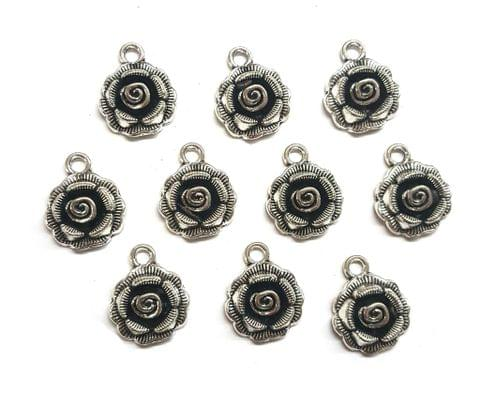 21 pcs, German Silver Charms, 17x14 mm