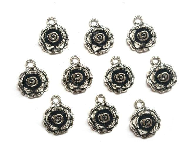 21 pcs, German Silver Charms, 17x14 mm