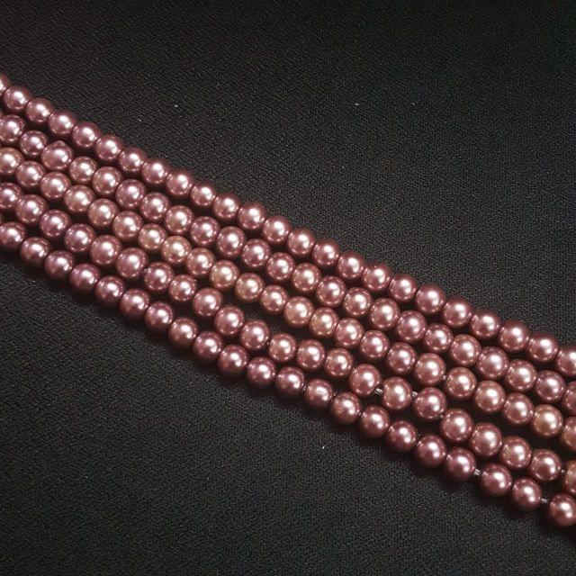 5 Lines, 6mm Glass Bead For Jewellery Making/ 16 Inch/ 70+ Beads in Each String