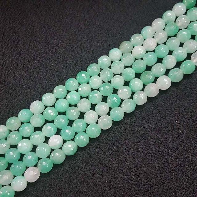 10mm, Shaded Blue Onyx Stone Strings, Pack Of 2 Lines, 15 Inches ( 37+ beads )