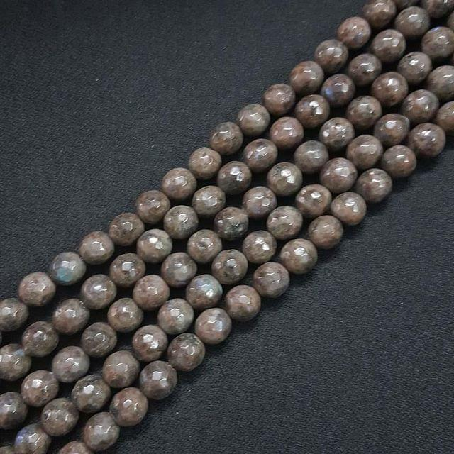 10mm, Dark Brown Onyx Stone Strings, Pack Of 2 Lines, 15 Inches ( 37+ beads )