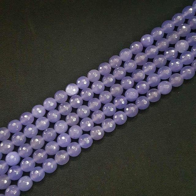 10mm, Light Purple Onyx Stone Strings, Pack Of 2 Lines, 15 Inches ( 37+ beads )