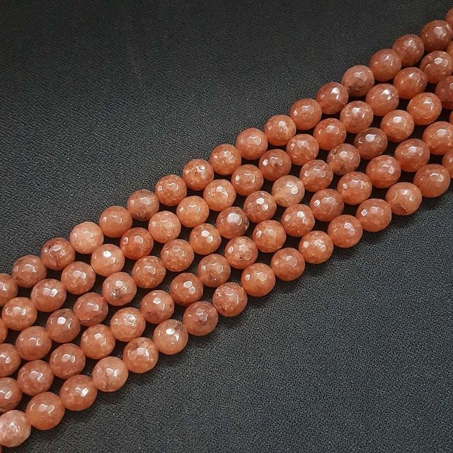 10mm, Brown Onyx Stone Strings, Pack Of 2 Lines, 15 Inches ( 37+ beads )