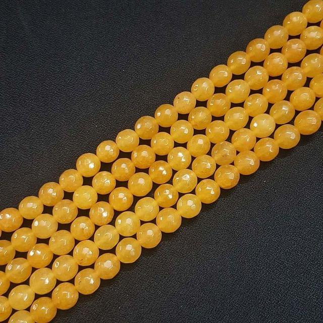 10mm, Yellow Onyx Stone Strings, Pack Of 2 Lines, 15 Inches ( 37+ beads )