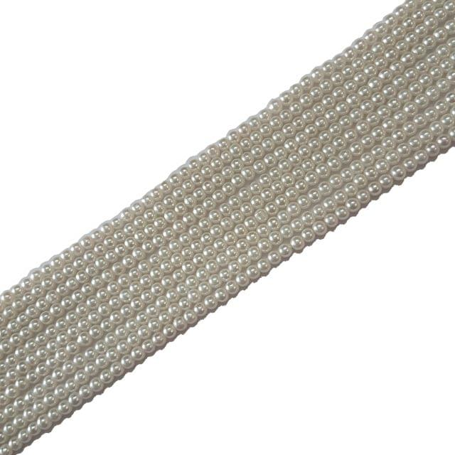 3mm, Glass Pearl String For Jewellery Making, 233+ Beads , 5 Lines