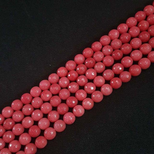 10mm, Redish Onyx Stone Strings, Pack Of 2 Lines, 15 Inches ( 37+ beads )