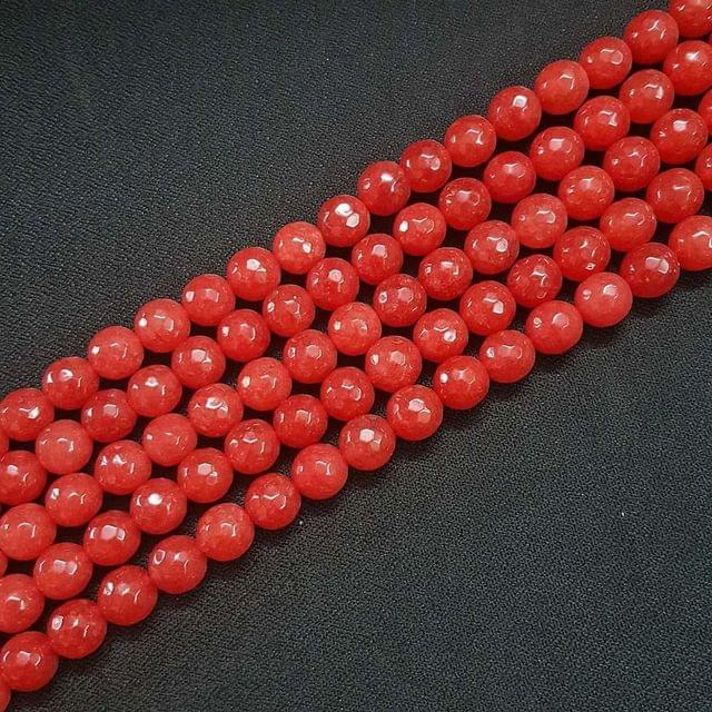 10mm, Red Onyx Stone Strings, Pack Of 2 Lines, 15 Inches ( 37+ beads )