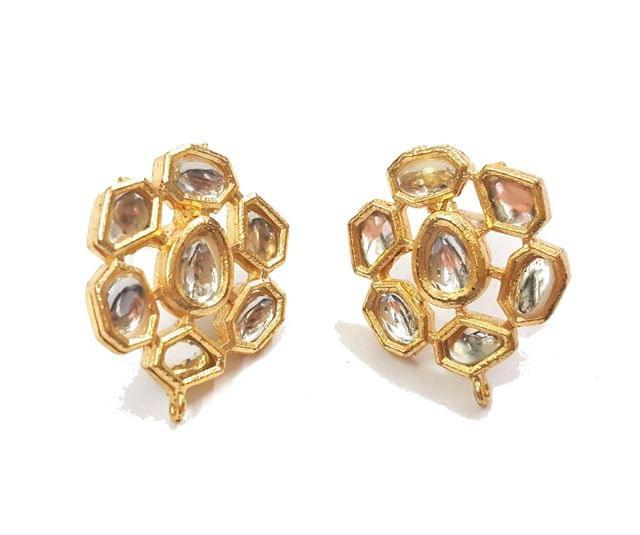 1 Pair Kundan Earring, Size 20x26 mm