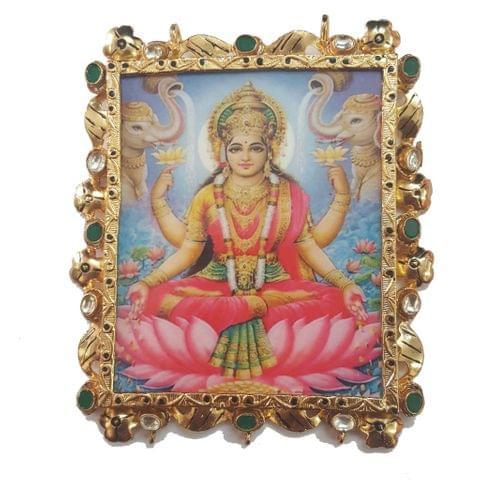 Lakshmi Tanjore Pendant 85 x 75mm
