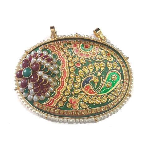 Green Paachi Tanjore Set 70 x 85 mm