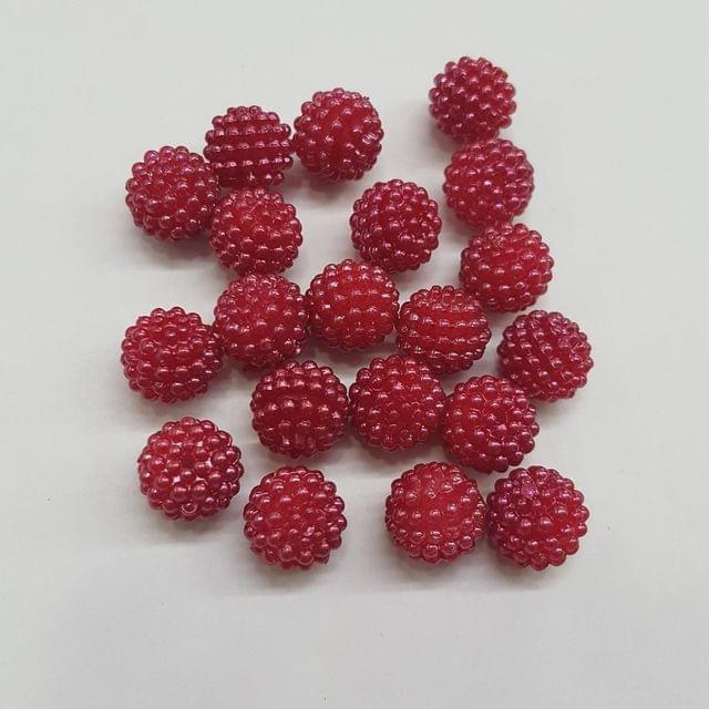Maroon, Acrylic Ball 10mm, 50 Pieces
