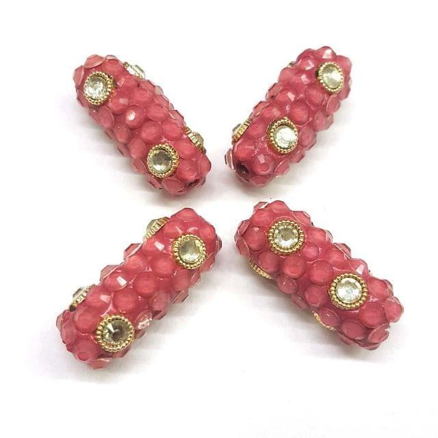 Pink, Takkar Capsule 12 x 29 mm, 4 Pieces
