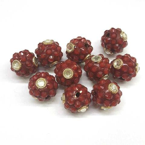 Maroon, Takkar Ball 16mm, 10 Pieces