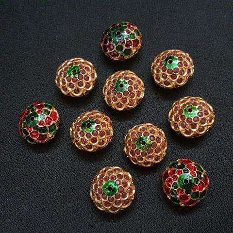 Red Jadau Ball 20 mm, 10 Pieces