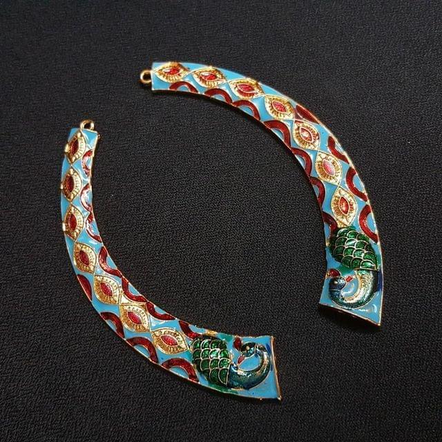 Blue, Meena Hasli 4 inch , 1 pair