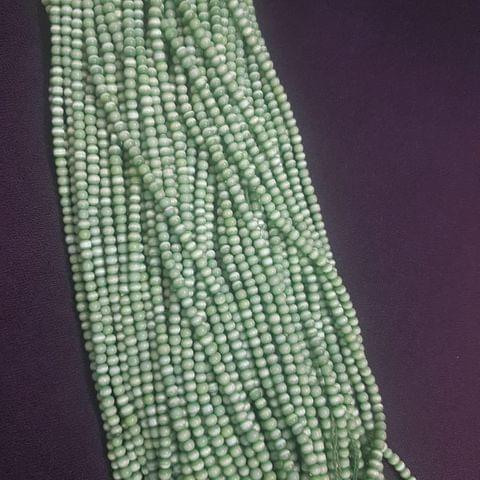 5 Lines, 4mm Green Color Cat's Eye Beads For Jewellery Making/ 15 Inch/ 90+ Beads in Each String