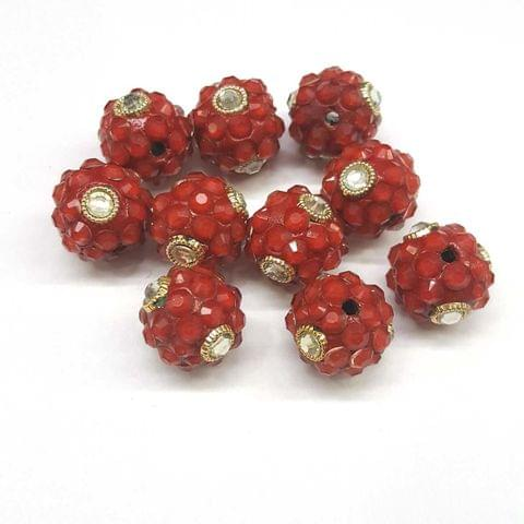 Red, Takkar Ball 16mm, 10 Pieces