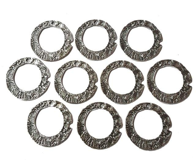 10 pcs, German Silver Charms, 35 mm