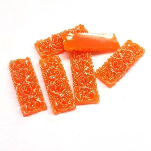 Orange, Acrylic Rectangle13 x 36 mm, 50 Pieces