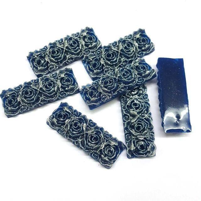 Dark Blue, Acrylic Rectangle13 x 36 mm, 50 Pieces
