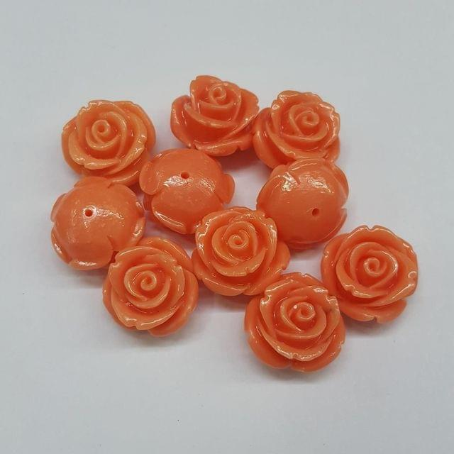 Peach, Acrylic Flower 18mm