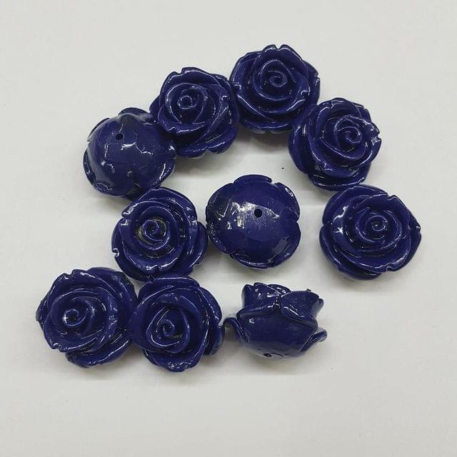 Dark Blue, Acrylic Flower 18mm
