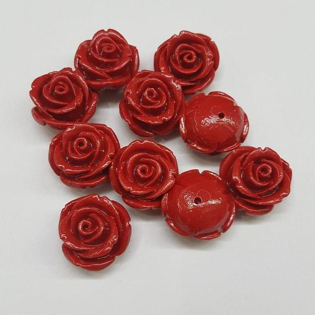 Red, Acrylic Flower 18mm