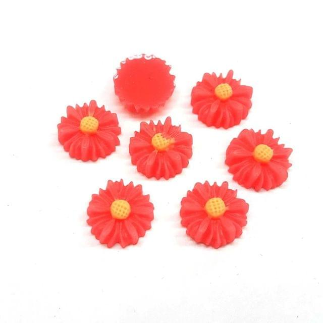 Pink, Acrylic Flower 13mm, 50 Pieces