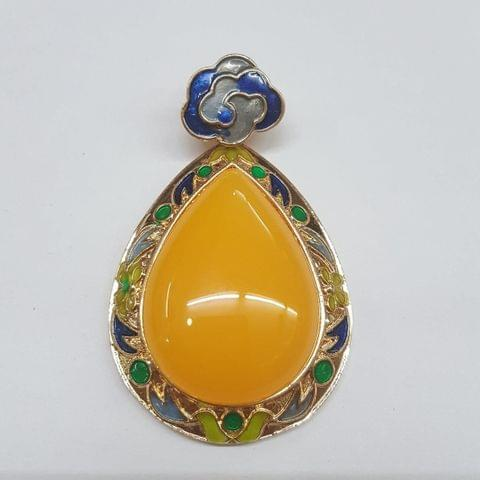 Yellow Colored Pan Pendant