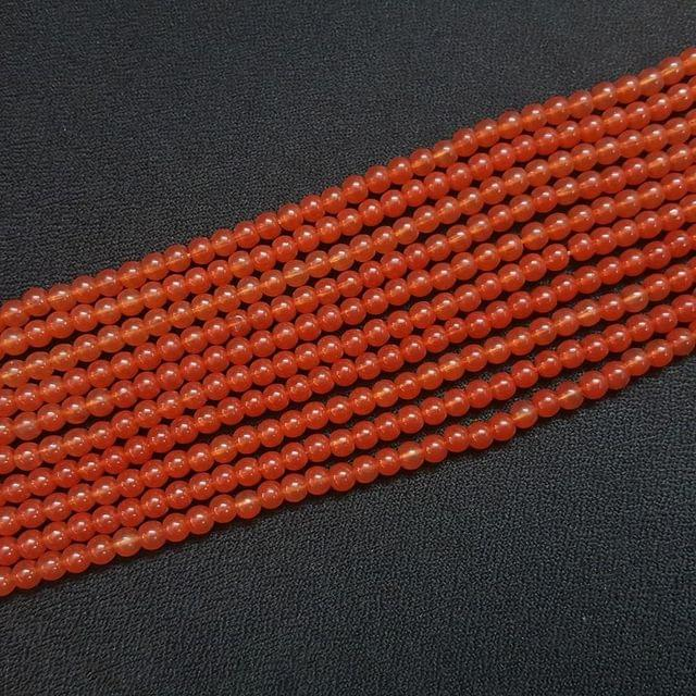 10 Lines, 4 mm Brown Color Glass Beads For Jewellery Making/ 16 Inch/ 101+ Beads in Each String