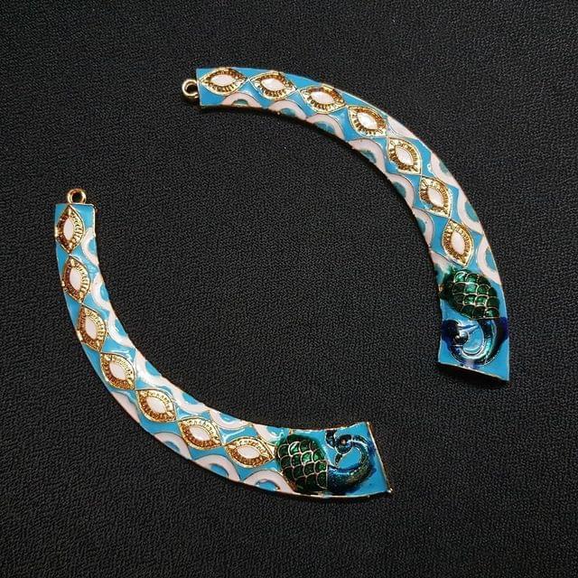 Sky Blue, Meena Hasli 4 inch , 1 pair