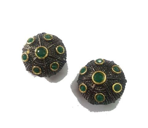20 mm, Green Antique Pieces, 1 pair