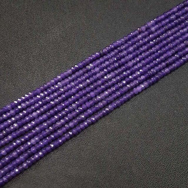 4mm, Purple Jade Stone Strings, Pack Of 2 Lines, 15 Inches ( 112+ beads )
