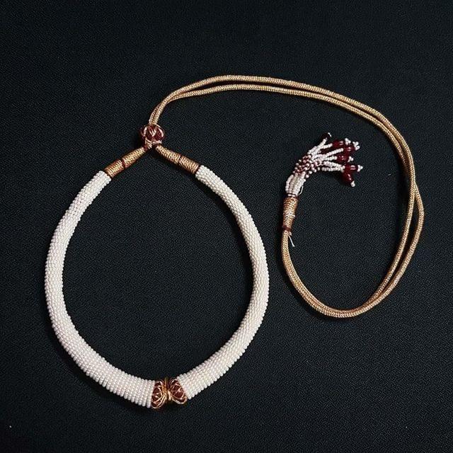 6 Pieces, Moti Hasli Necklace Dori