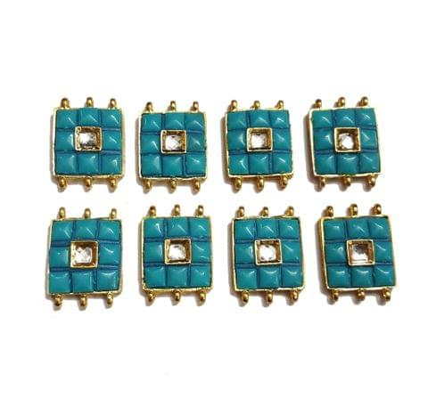 7 pcs Turquoise Color Spacers 30x22mm