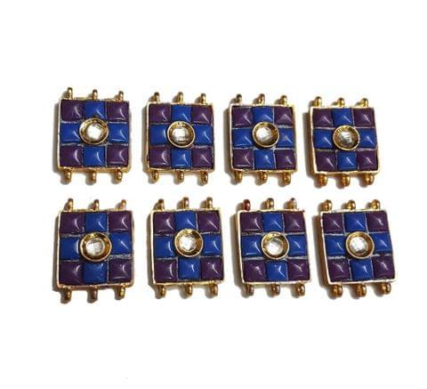 7 pcs Purple,Dark Blue Color Spacers 30x22mm
