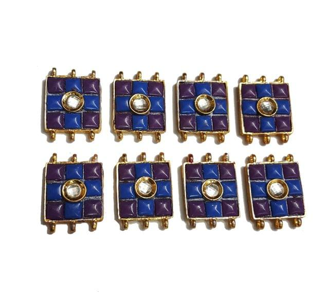7 pcs Purple,Dark Blue Color Spacers 30x22mm