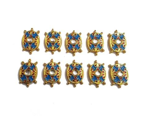 10 pcs Blue Color Oval Shape Spacers 30x19mm
