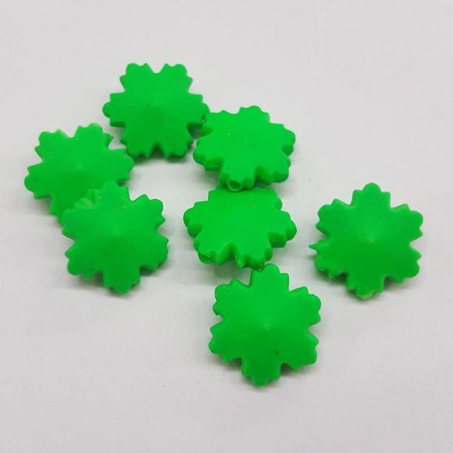 Green, Acrylic Flower 16mm, 100 pcs