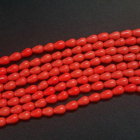 4 Lines, 8 mm Red Color Glass Beads For Jewellery Making/ 16 Inch/ 31+ Beads in Each String