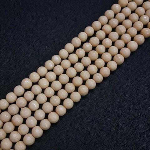 8mm Jade Faceted Beads, 2 Strings, 43+ Beads In Each String