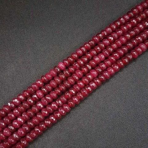 8mm, Maroon Jade Stone Strings, Pack Of 2 Lines, 15 Inches ( 72+ beads )