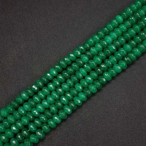 8mm, Green Jade Stone Strings, Pack Of 2 Lines, 15 Inches ( 72+ beads )