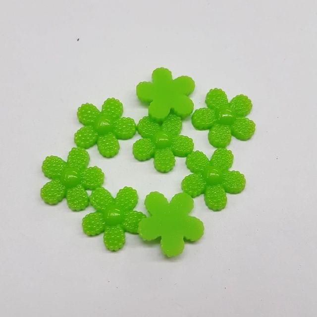 Green, Acrylic Flower 12mm, 100 pcs