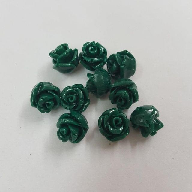 Dark Green, Acrylic Flower 8mm
