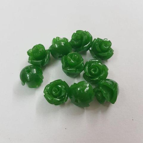 Green, Acrylic Flower 8mm