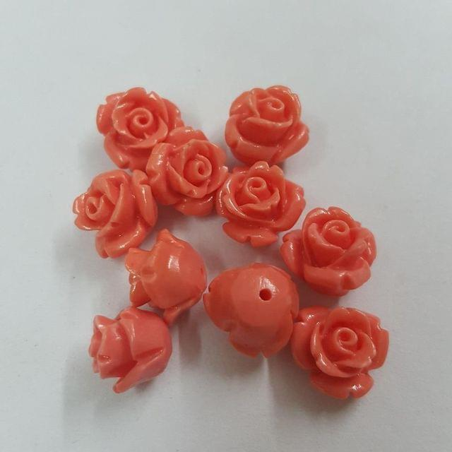 Peach, Acrylic Flower 8mm