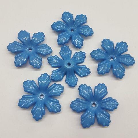 Blue, Acrylic Flower 28mm, 100 Pieces