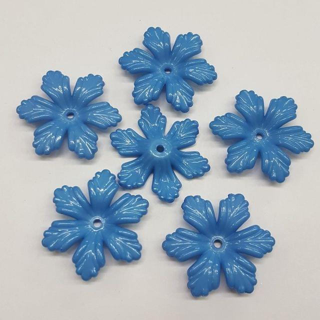 Blue, Acrylic Flower 28mm, 100 Pieces