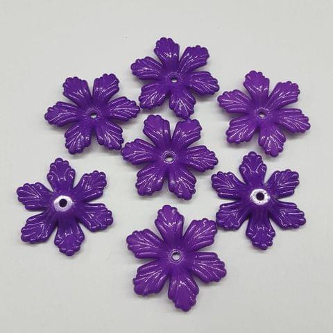 Purple, Acrylic Flower 28mm, 100 Pieces